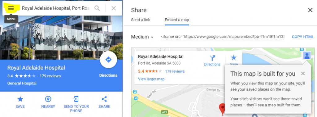 adelaide google maps screenshot