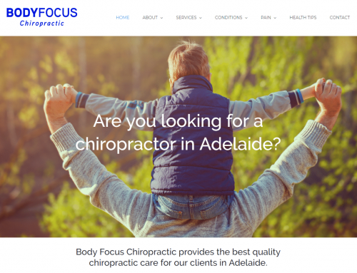 New Adelaide Chiropractor Website – Body Focus Chiropractic